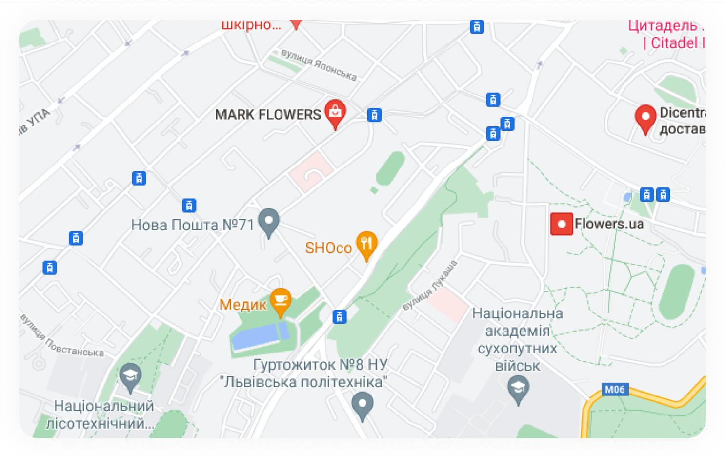 google maps screen