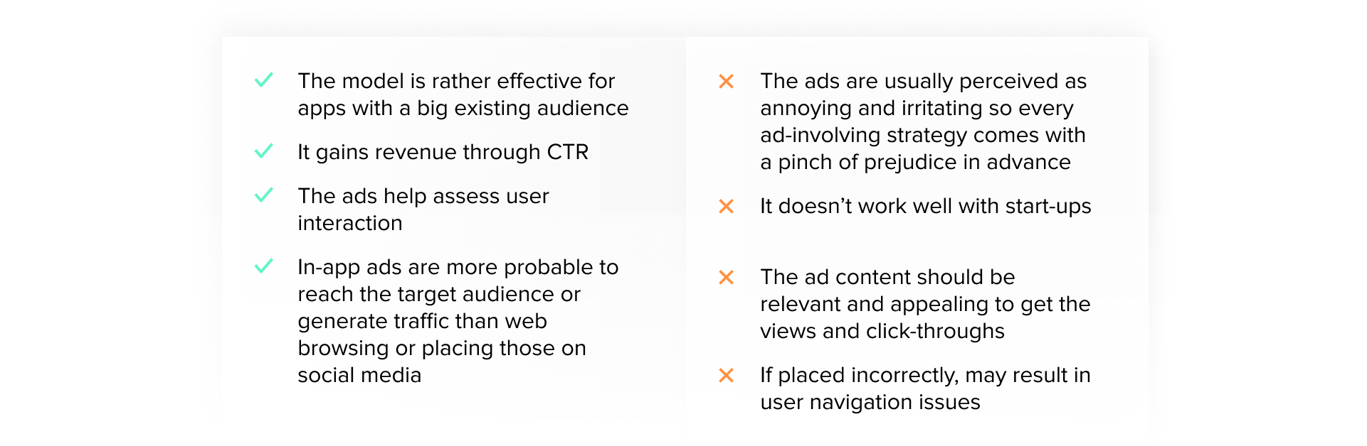 pros and cons of advertising revenue monetization model