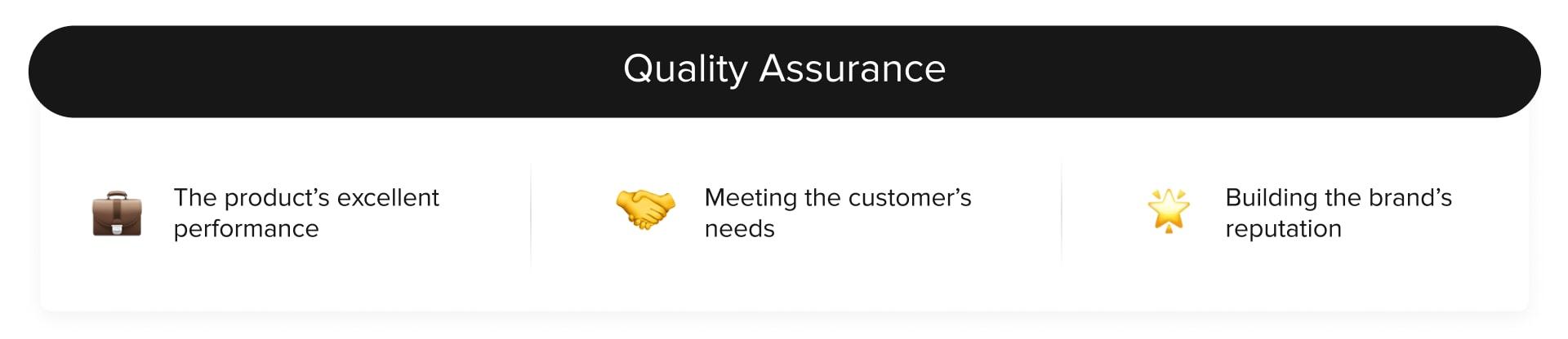 quality assurance benefits