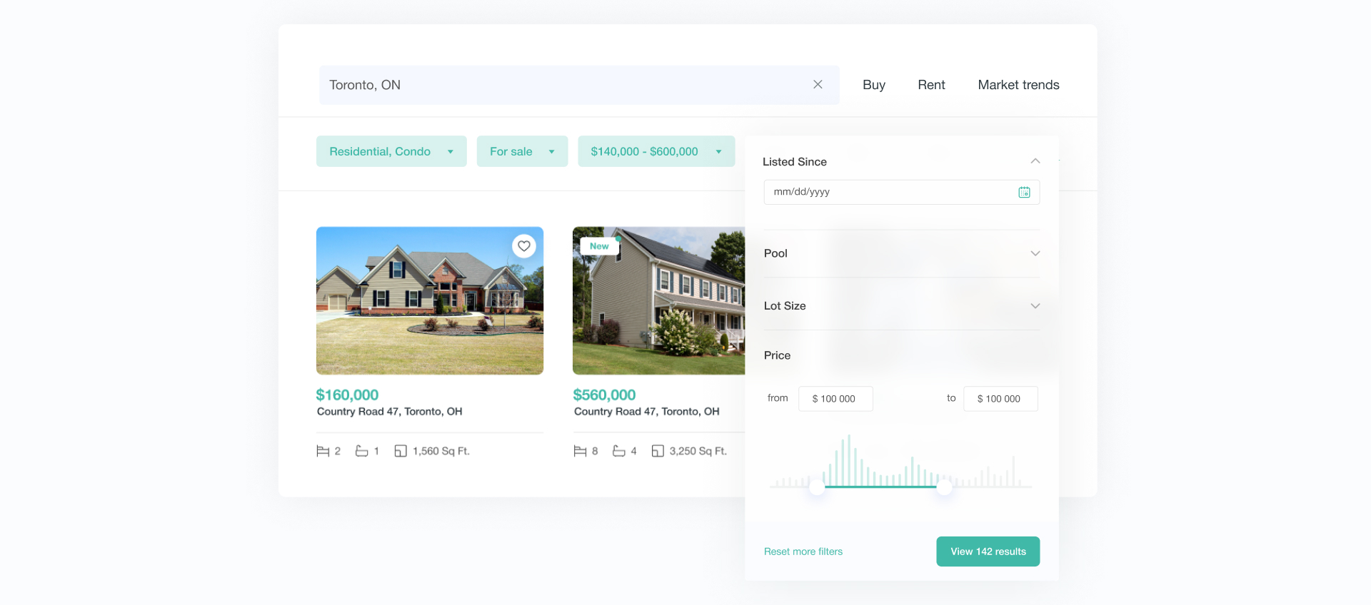 Marketplace search page