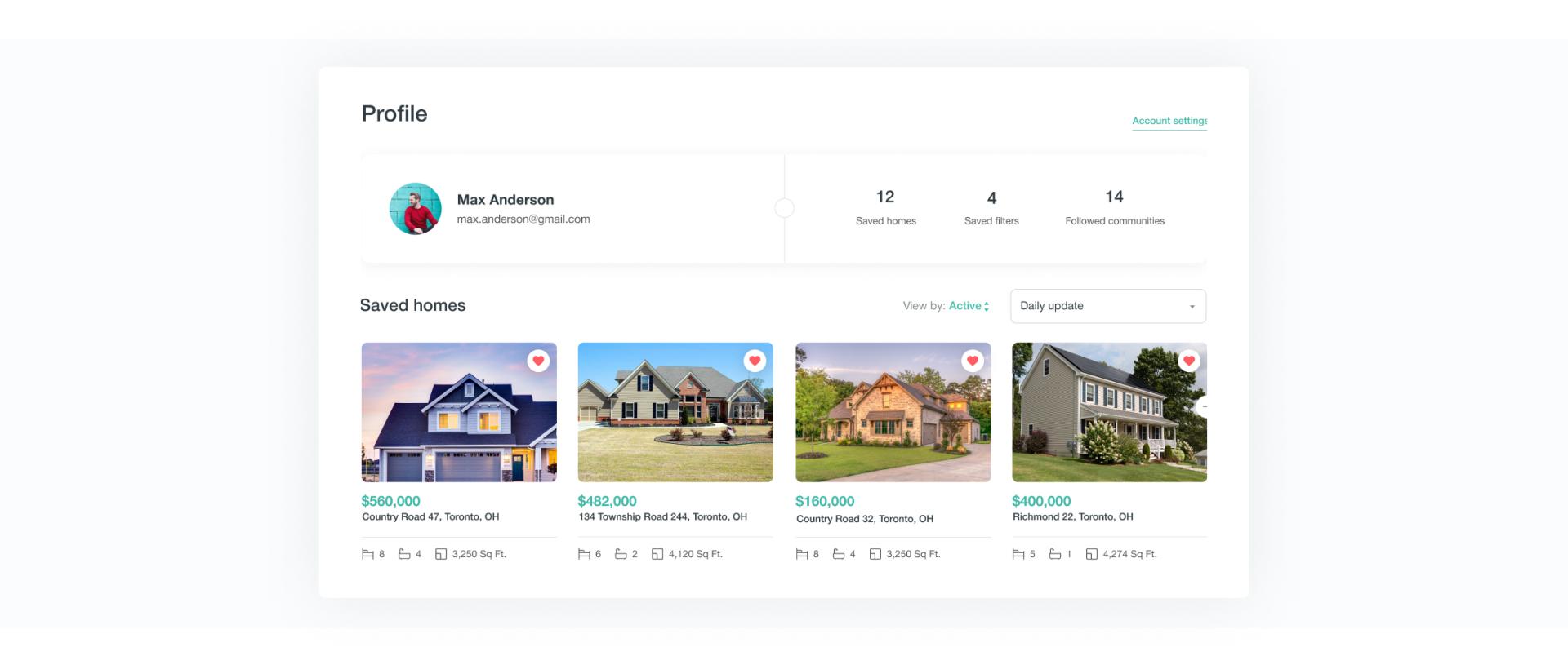 Marketplace user profile