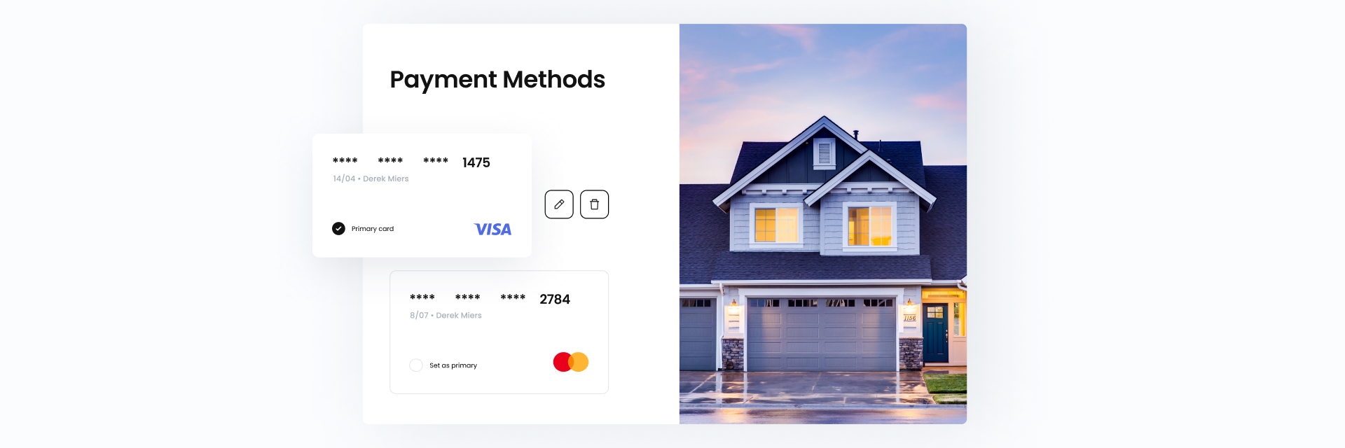 Marketplace payment page