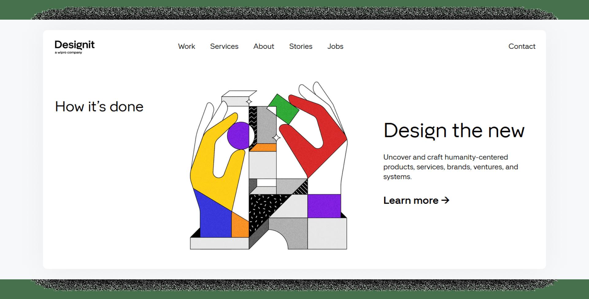 Designit - development company home page