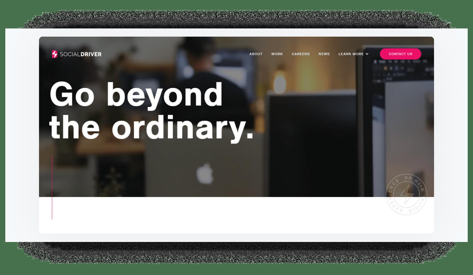 Social Driver - development company home page