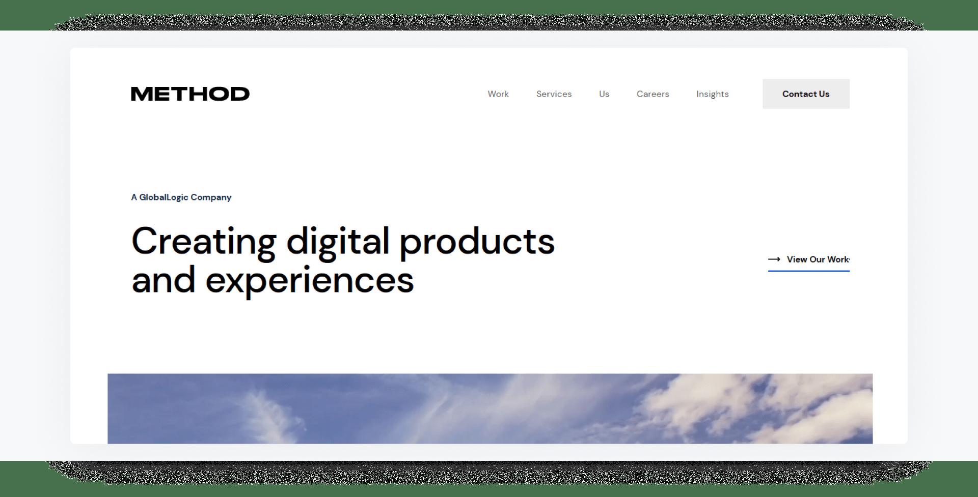 Method - development company home page
