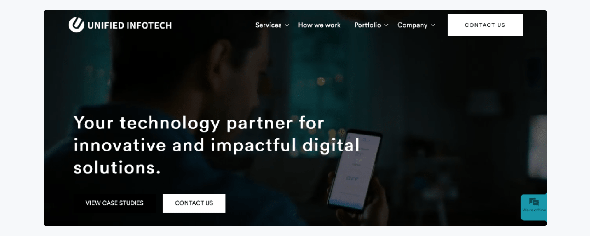 Unified Infotech - development company home page
