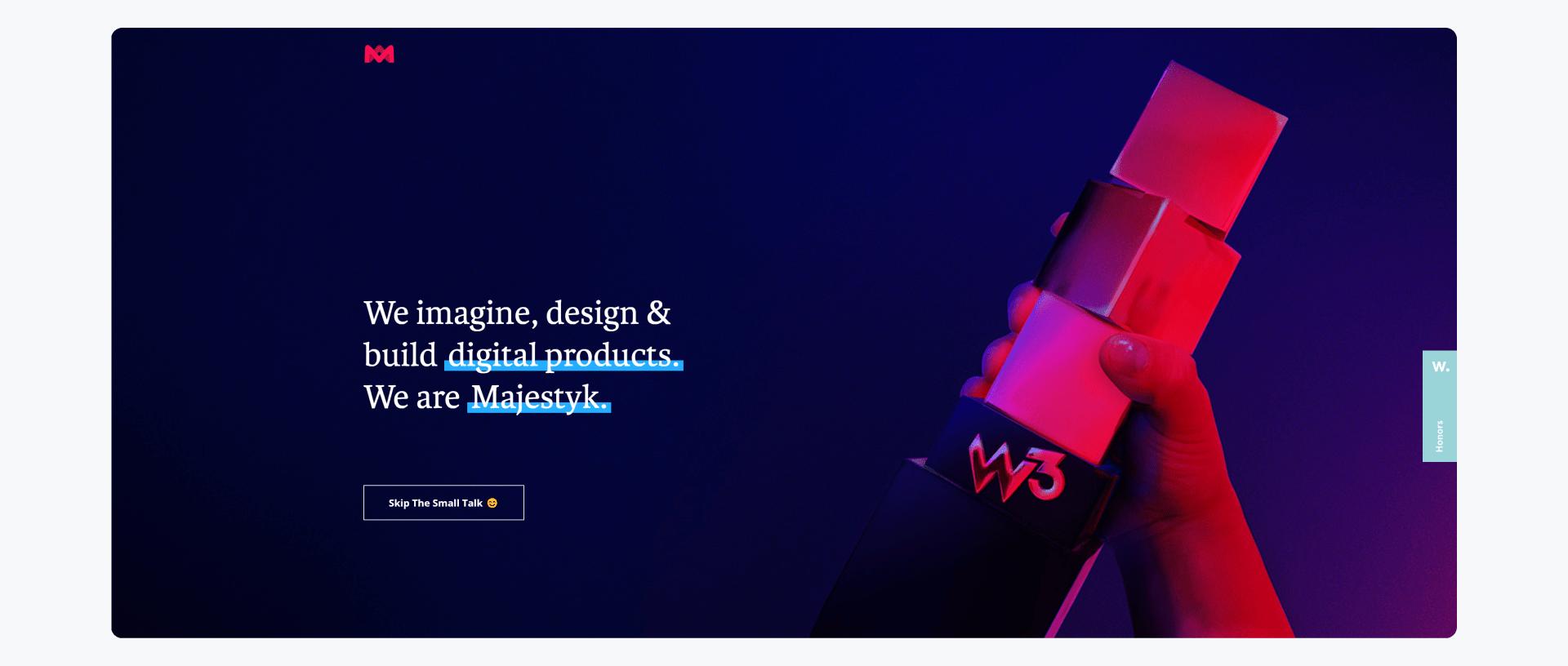 Majestyk - development company home page