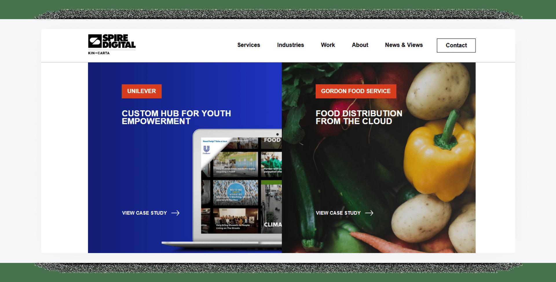 Spire Digital - development company home page