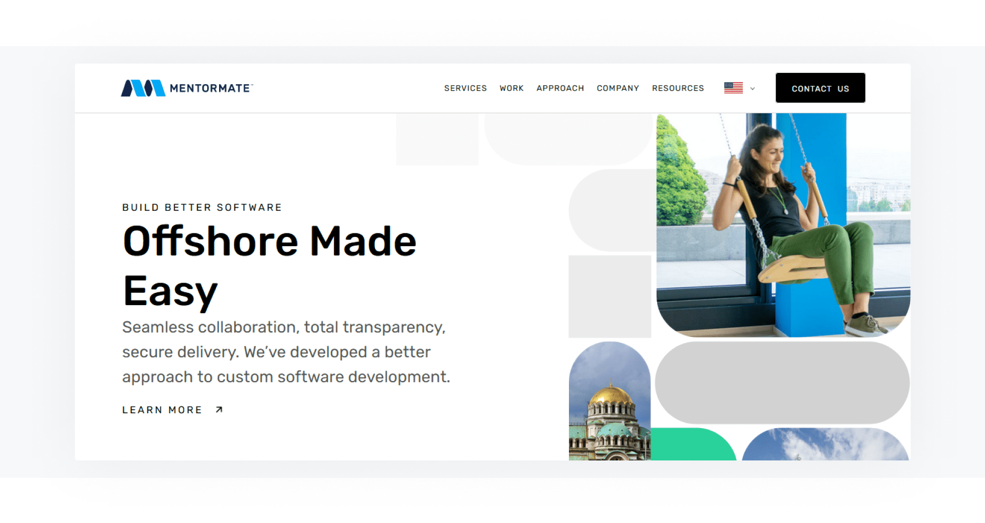 MentorMate - development company home page