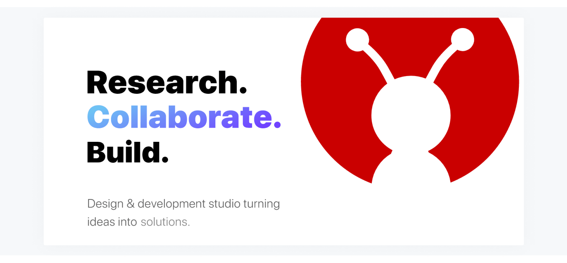 GeekyAnts - development company home page