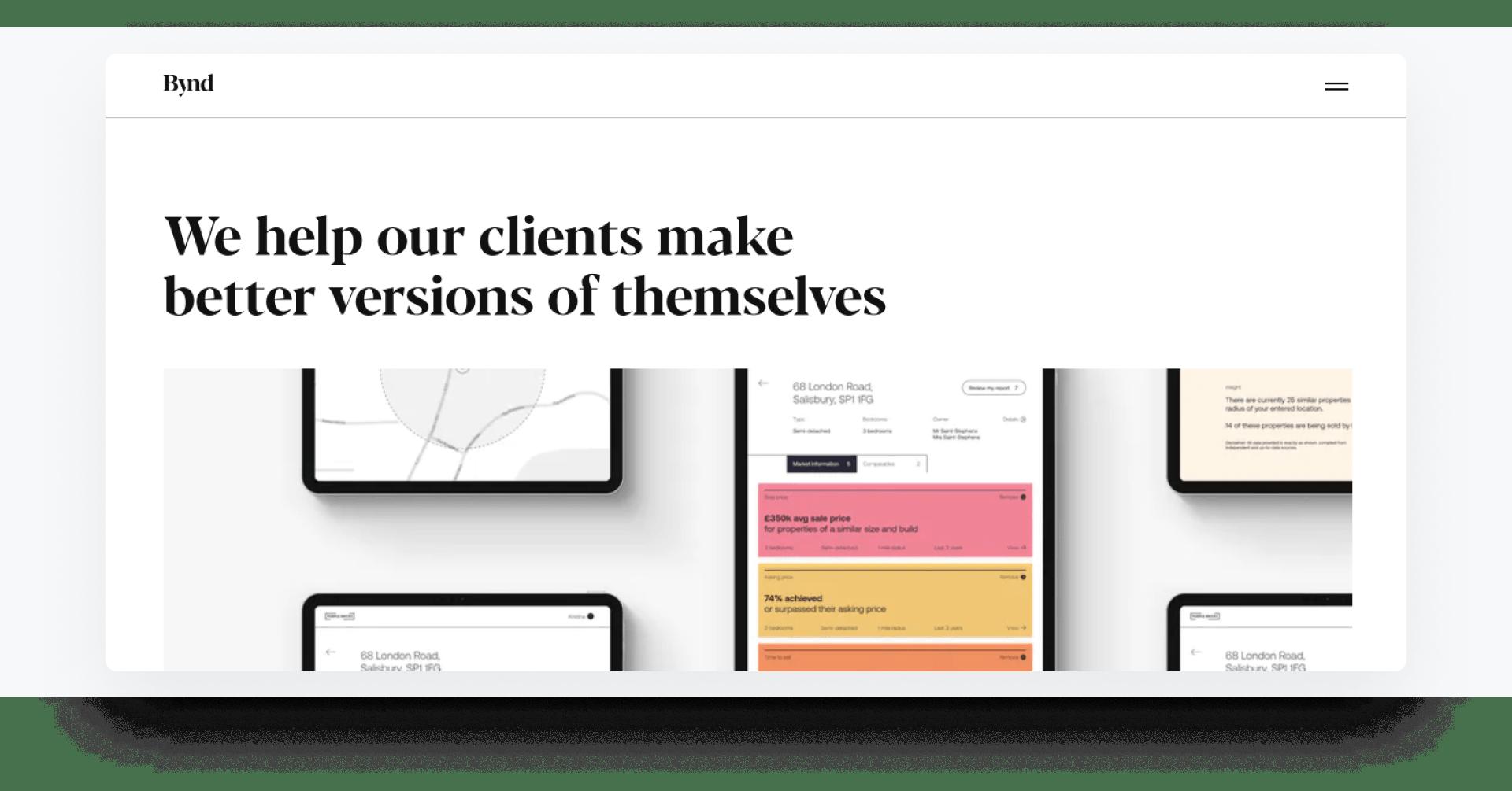 Beyond - development company home page