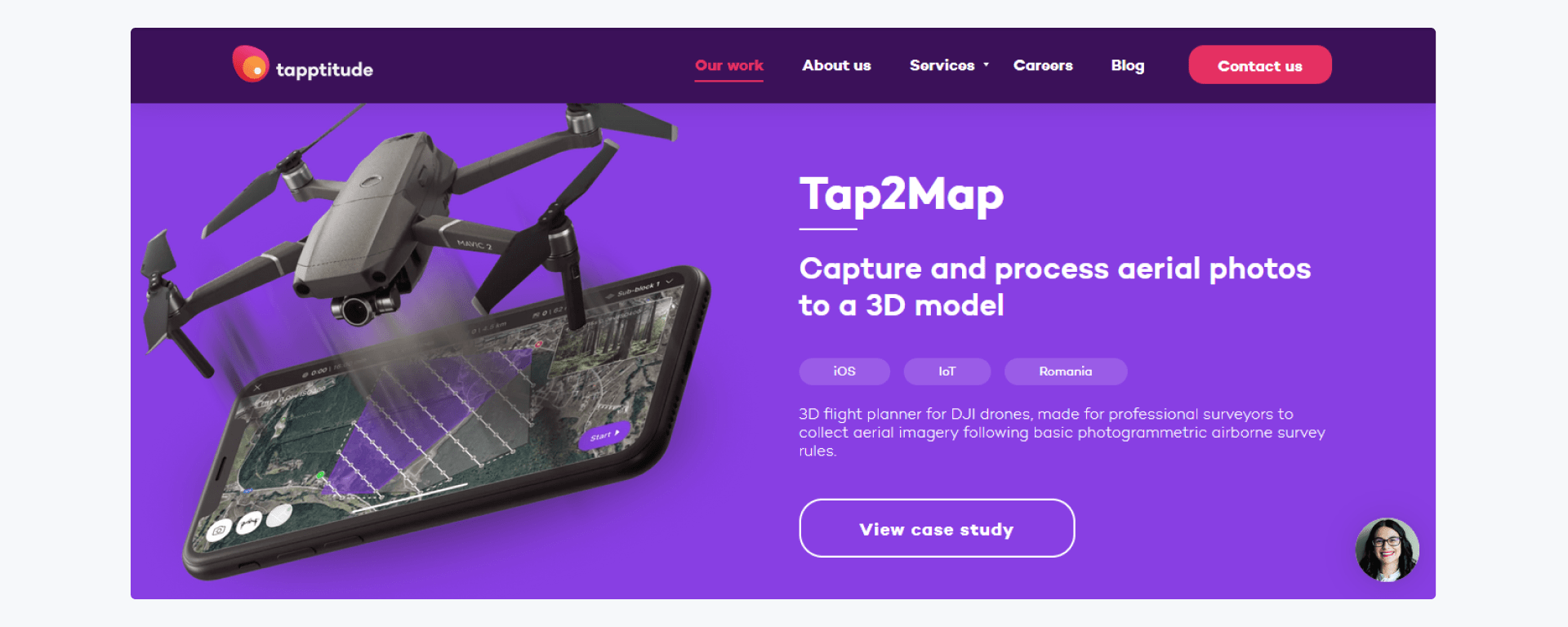 Tapptitude - development company home page